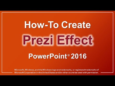How to Create Prezi Effect in PowerPoint 2016