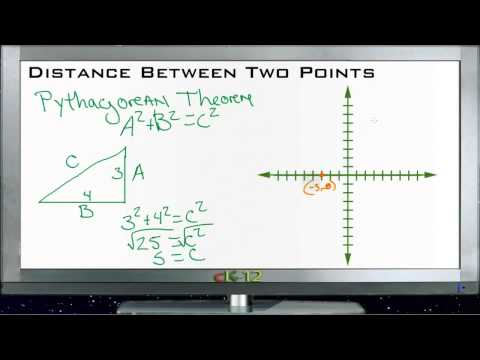 Finding the Distance Between Two Points: Lesson (Basic Geometry Concepts)