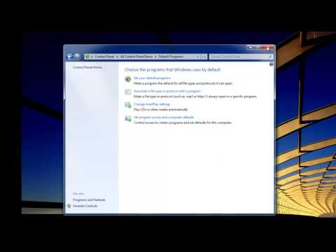 How to change the default web browser as for Internet Explorer in Windows 7