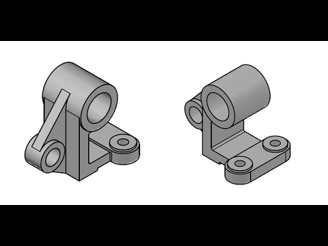 AutoCAD 3D practice drawing - SourceCAD
