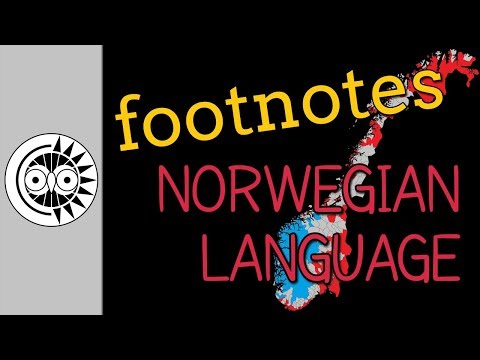 Footnotes to 'Introduction to Norwegian'