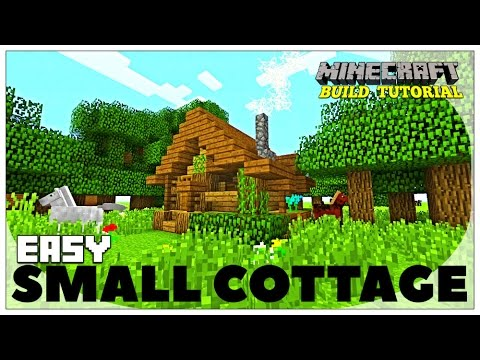 Minecraft: How To Build A Small Survival House Tutorial (Easy survival Cottage ) (Rustic) 2016