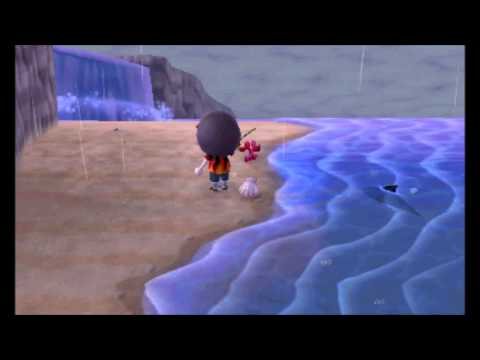 Lets Play Animal Crossing New Leaf Nintendo 3DS + 365 Days +  Day 8 BONUS + Shark Fishing Special!