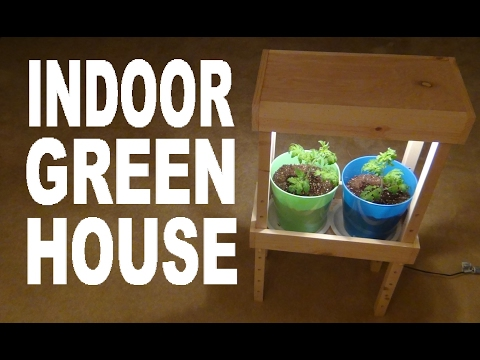 How To Build An Indoor Greenhouse!!! (Adjustable Shelf!)