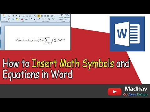 How to Insert Math Symbols and Equations in Word
