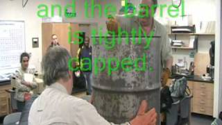 Barrel Crushed with Atmospheric Pressure.wmv