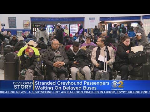 Greyhound Passengers Stranded At Chicago Station Due To East Coast Storm