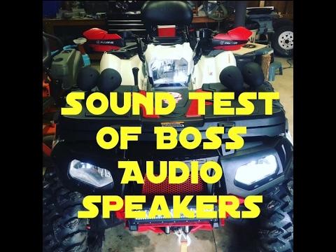 Boss Audio MCBK470B 1000 watt speakers mounted on Polaris 850xp