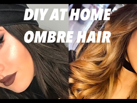DIY AT HOME|DARK TO OMBRE HAIR