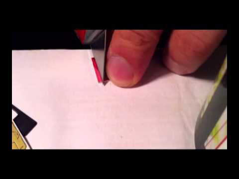 How to Cut a Sim Card to Micro Size