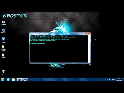 Accessing The Administrator Account Using CMD (Windows 7) Tutorial