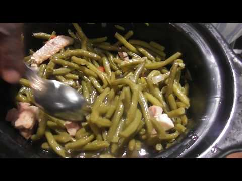 How to make green beans /string beans in a slow cooker