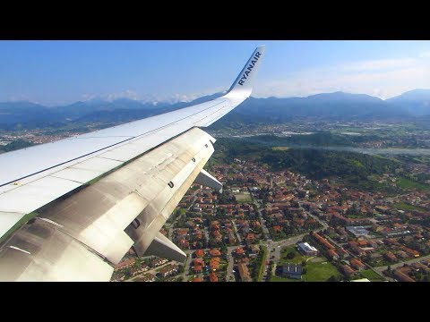 RYANAIR 737-800 (EI-FIO) Beautiful Day Landing at Milan Bergamo Airport (BGY) [Full HD]