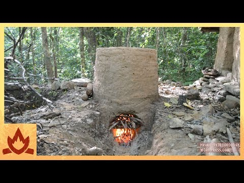 Primitive Technology: Termite clay kiln & pottery