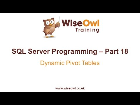 SQL Server Programming Part 18 - Dynamic Pivot Tables