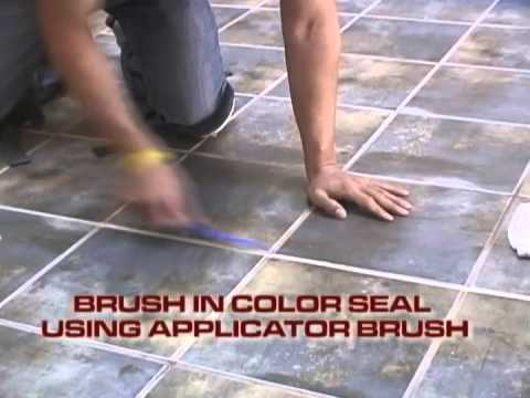 How to color seal grout and tile