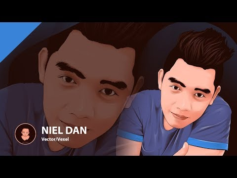 Photoshop Tutorial - Cartoon Effect / Vector Art / Vexel Art - Niel Dan Valdez (Time Lapse)
