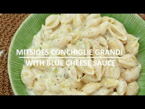 Pasta shells with Blue Cheese Sauce