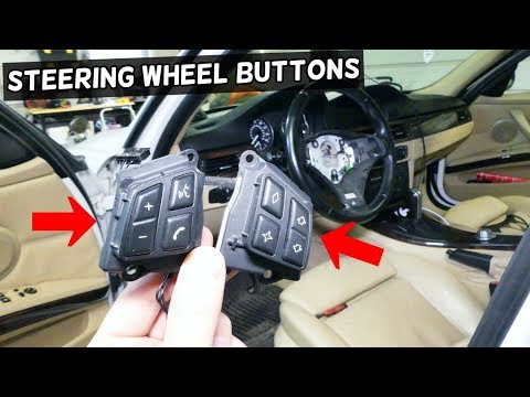 HOW TO REMOVE AND REPLACE STEERING WHEEL RADIO SWITCH BUTTONS BMW E90 E92 E91 E93