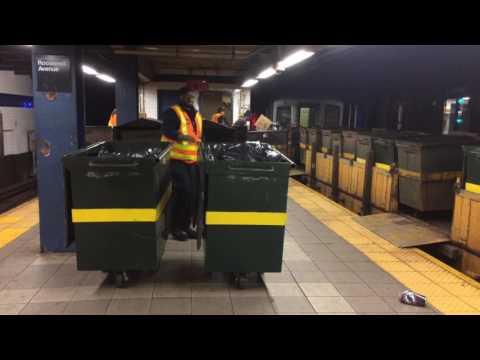 IND Queens Blvd Line: R127 Garbage Train Action At (Jackson Heights - Roosevelt Avenue)