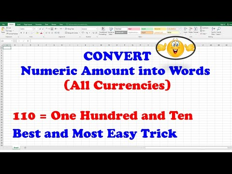 MS Excel 2016 Course - Converting Numeric Values to English Words using SpellNumber (English)