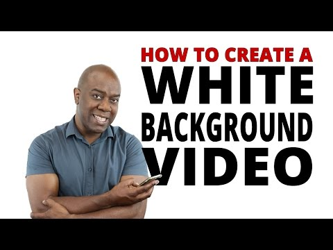 How to Shoot White Background Video with iPhone