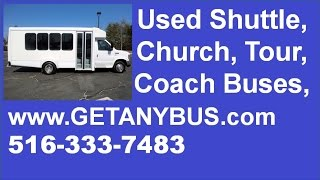 NJ buyers can get Used Church Buses For Sale delivered from NY dealer | 2009 Ford E350 Non-CDL Bus