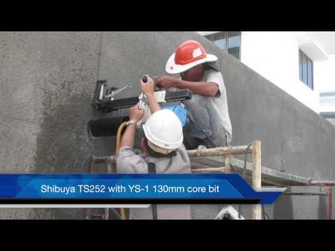 SHIBUYA TS252 with YS-1 130mm Shibuya core bit