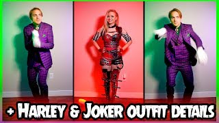 THE JOKER DOES MY VOICEOVER + Harley & Joker Cosplay Outfit Details