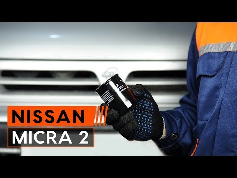 How to replace oil filter and engine oil onNISSAN MICRA 2 Hatchback[TUTORIAL AUTODOC]