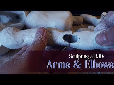 Sculpting a BJD: Arms & Elbows