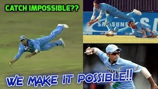 Top 10 Sensational Yuvraj and Kaif Catches in Cricket History | Making Impossible Catches Possible!!