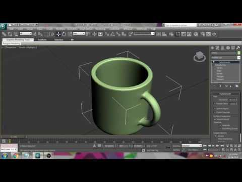 cup modeling in 3ds max