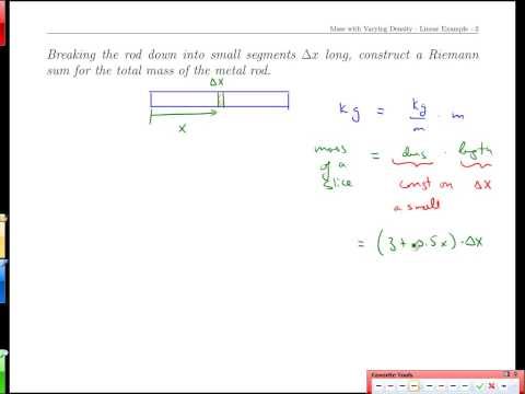 Unit 14-1 Mass with Varying Density-Linear Example
