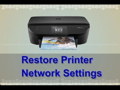 How to restore your Printer's Network Settings