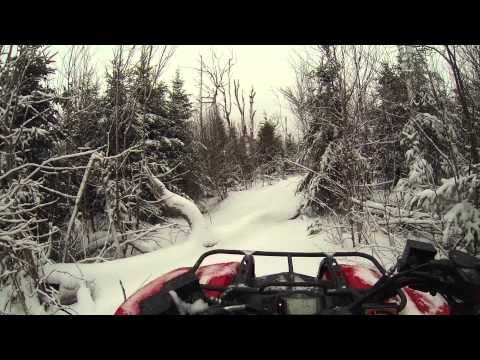 Ruger .22 vs iPhone & ATV Ride to Frozen Waterfall + Camp Cooking.