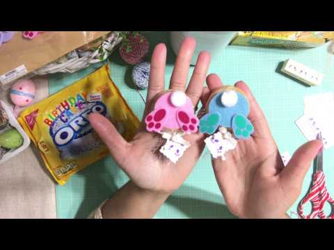 #9  Easter 🐇 Series 2017 - OREO COOKIES !!! Bunny Butts  -  DIY Easter Treat Bag