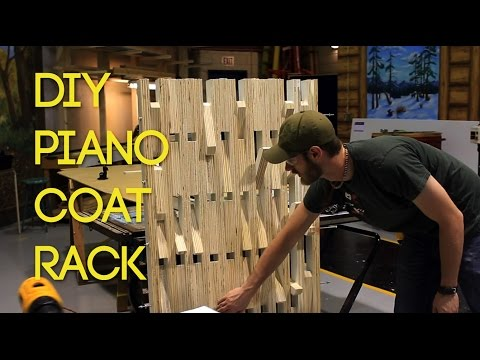 BUILD: Piano-style Wooden Coat Rack