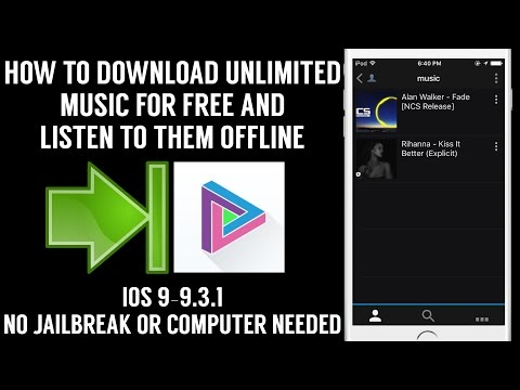 How To Download Unlimited Free Music&Listen Offline(iOS 9-9.3.1)(No JB Or PC)iPhone,iPad,iPod Touch