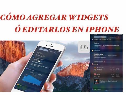 Cómo agregar o editar  widgets en iPhone
