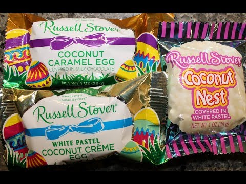 Russell Stover: Coconut Caramel Egg & White Pastel: Coconut Nest & Coconut Crème Egg Review