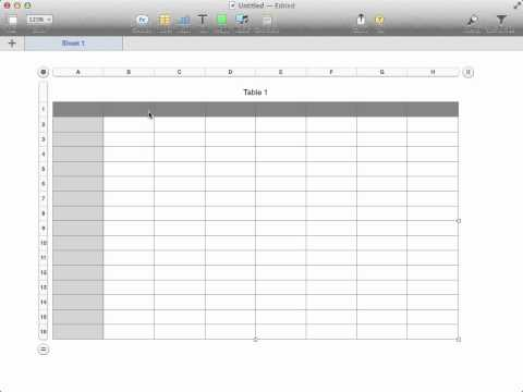 How to change the size of a Numbers spreadsheet