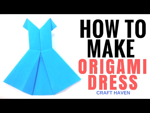 How to Make Origami Dress - Easy Tutorial for Beginners - Paper Dress - DIY - Craft