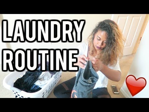 My Laundry Routine! Family of 3!
