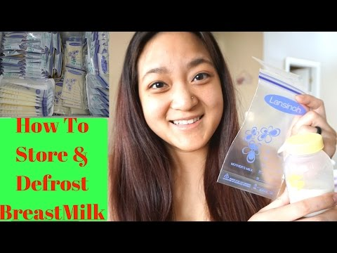 How to Store and Defrost Breastmilk! Helpful TIPS!