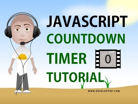 Javascript countdown timer tutorial setTimeout clearTimeout programming html