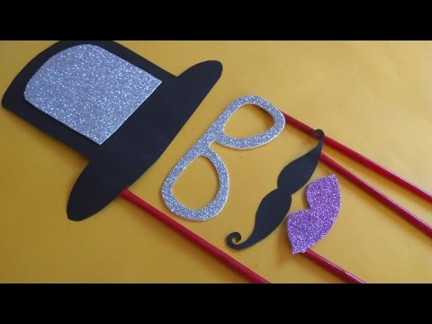 How to make Party Props at home | DIY Photobooth Props idea