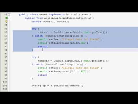 Java GUI Tutorial 16 - Simple calculator (Part 4 of 4)
