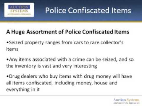 Police Confiscated Items: How a Criminal's Loss can be Your Gain!