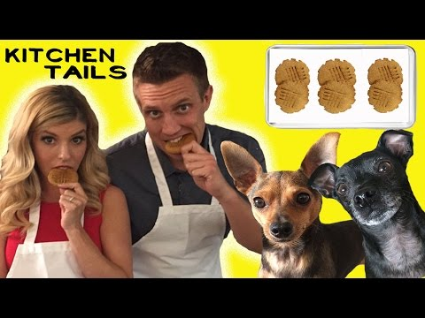 REBECCA ZAMOLO How to Make Peanut Butter Cookies for Dogs with Peanut and Blackjack